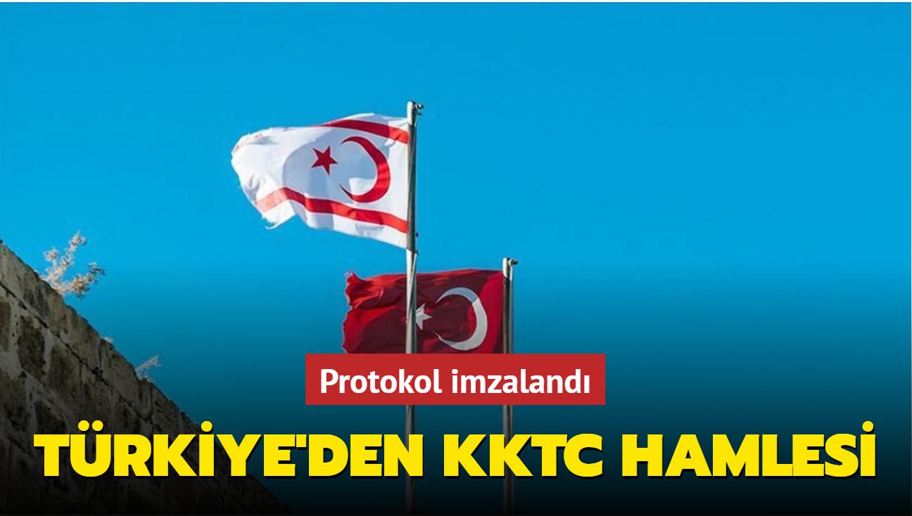 Türkiye'den KKTC hamlesi... Protokol imzalandı