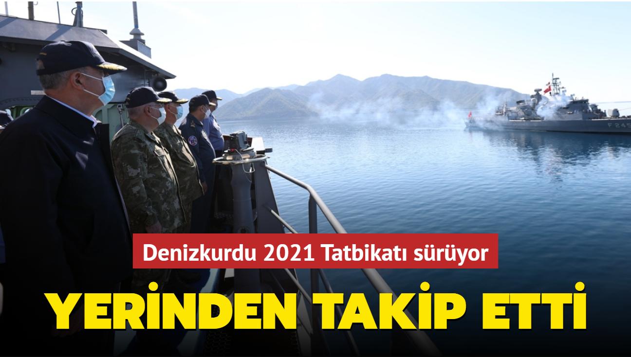 Bakan Akar Denizkurdu 2021 Tatbikatı faaliyetlerini izliyor