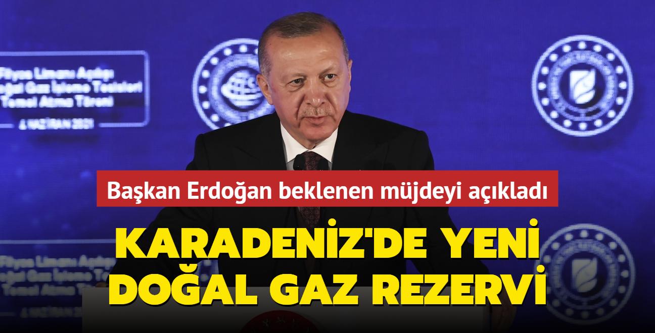 Başkan Erdoğan beklenen müjdeyi açıkladı... Karadeniz'de yeni bir doğal gaz rezervi keşfedildi