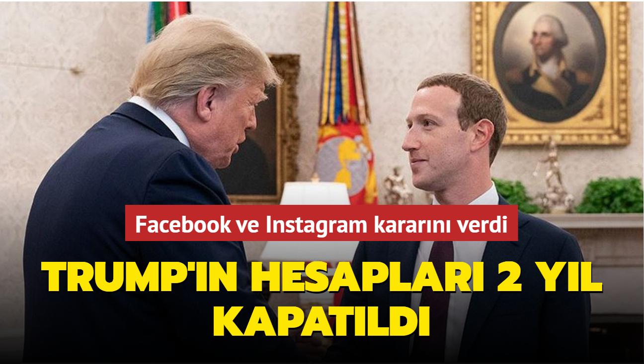 Facebook ve Instagram kararını verdi... Trump'ın hesapları 2 yıl kapatıldı