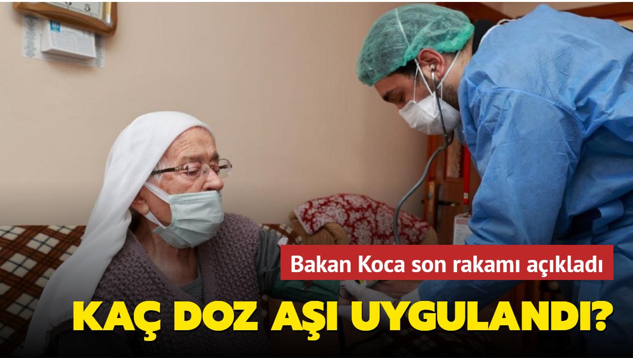 Sağlık Bakanı Koca: 30 milyon doz aşı uygulandı