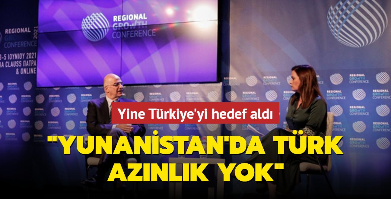 Yunanistan Dışişleri Bakanı Dendias Türkiye'yi hedef aldı: Yunanistan'da Türk azınlık yok