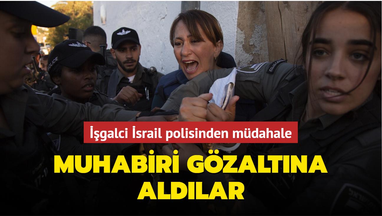 İşgalci İsrail polisinden müdahale: Muhabiri gözaltına aldılar