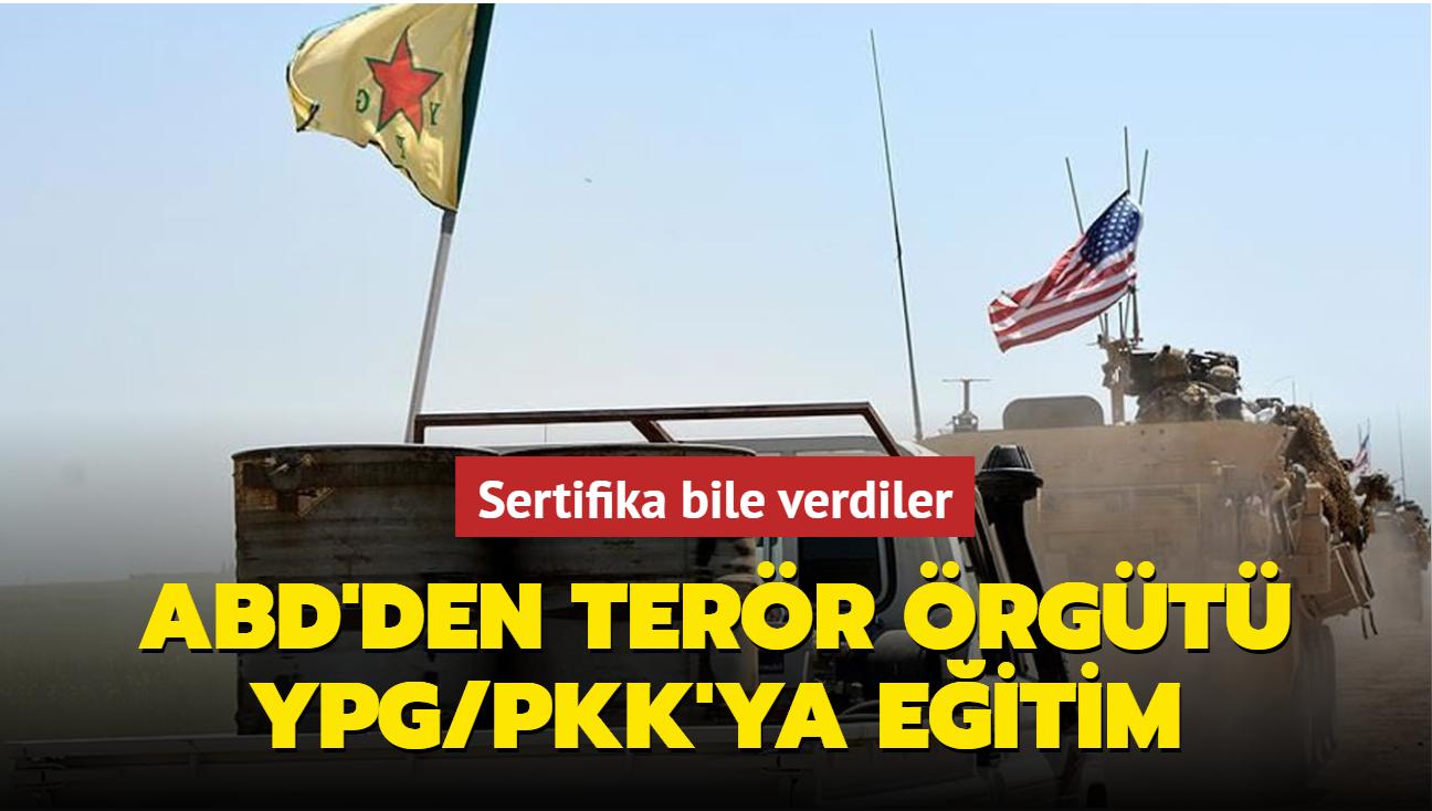 Sertifika bile verdiler: ABD'den terör örgütü YPG/PKK'ya eğitim