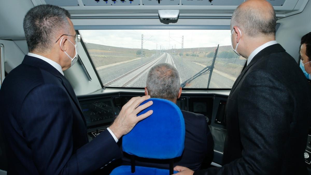 Ankara-Sivas Hızlı Tren Hattı çalışmaları yerinde incelendi