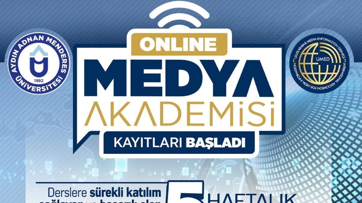 Aydın Adnan Menderes Üniversitesi'nde Online Medya Akademisi kayıtları başladı