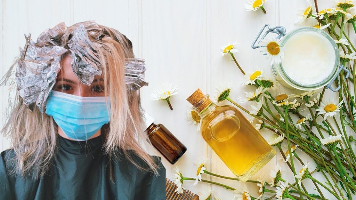 """Papatya suyu ile saç açma işlemi nasıl yapılır"""" Saçlara doğal açıcı tarifi"""