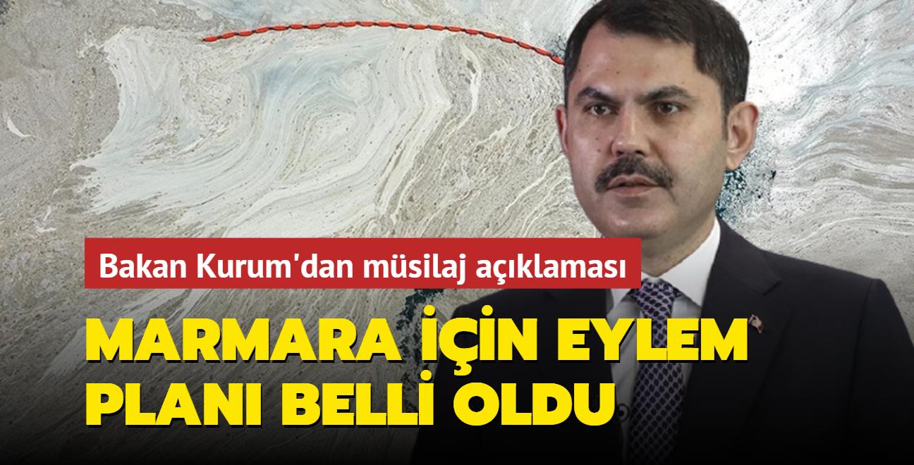 Çevre ve Şehircilik Bakanı Kurum'dan müsilaj açıklaması... Marmara için eylem planı belli oldu