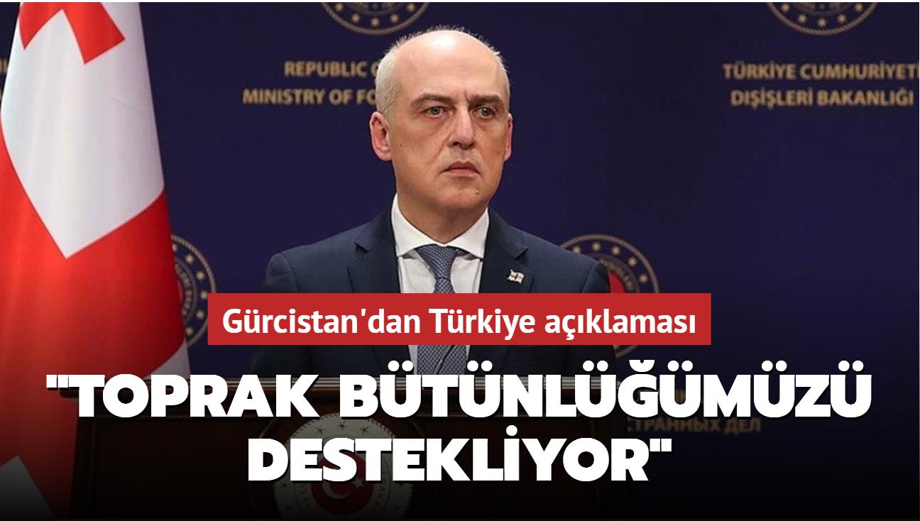 """Gürcistan'dan Türkiye açıklaması: """"Toprak bütünlüğümüzü destekliyor"""""""