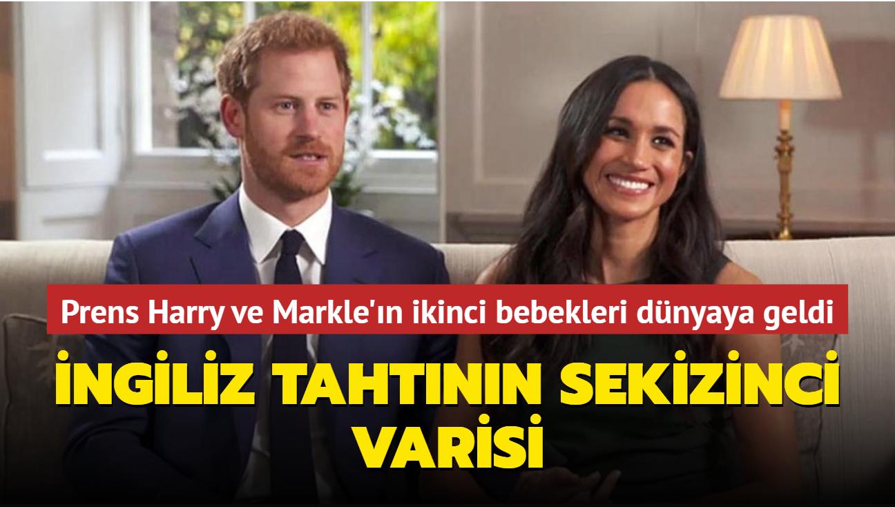 Prens Harry ve Meghan Markle'ın ikinci bebekleri dünyaya geldi