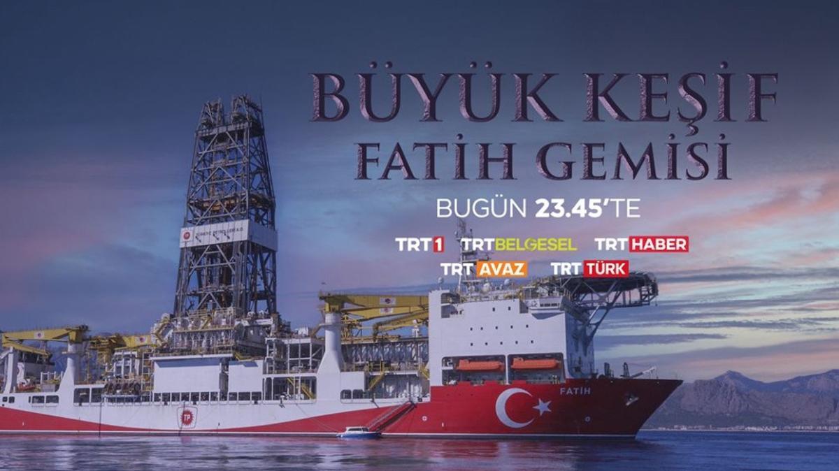 """TRT'den özel belgesel: """"Büyük Keşif: Fatih Gemisi"""""""
