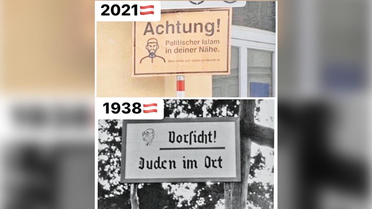 Viyana'da İslam'a karşı ırkçı tabelalar