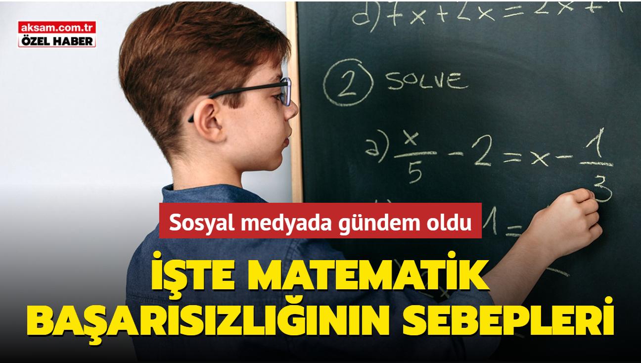 Matematikte başarısızlığın sebepleri