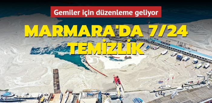 Marmara'da 7/24 temizlik