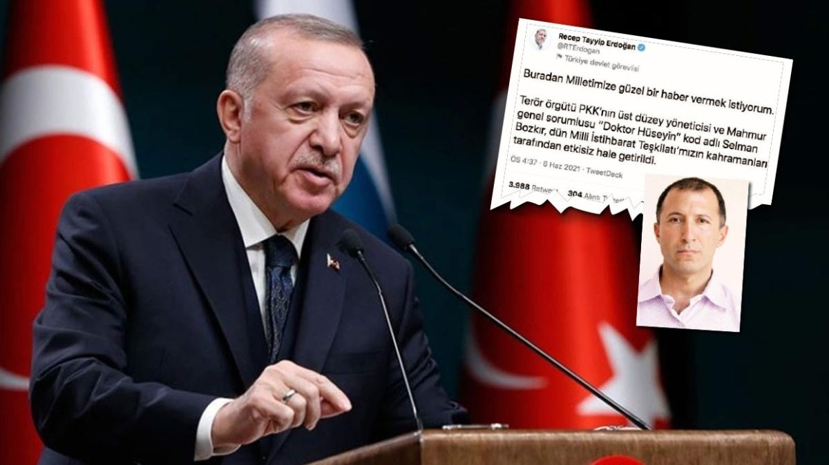 Başkan Erdoğan duyurdu: PKK'nın sorumlusu öldürüldü! Mahmur'a MİT'ten operasyon
