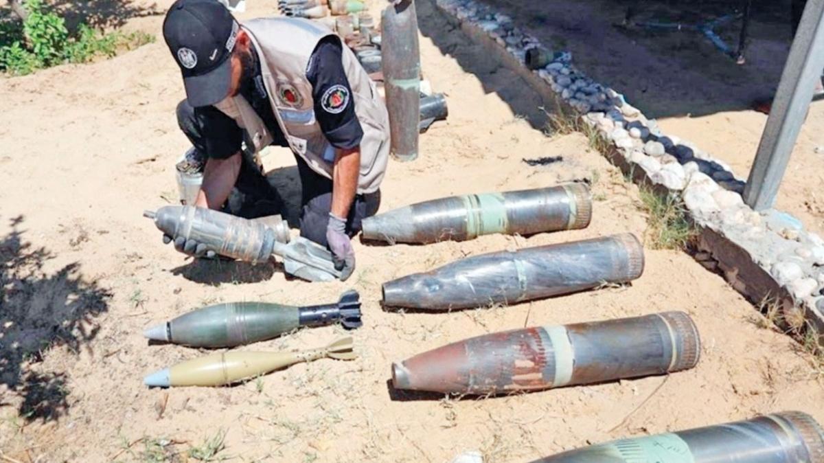 Gazze'de korku sürüyor! Patlamamış yüzlerce bomba imha edildi