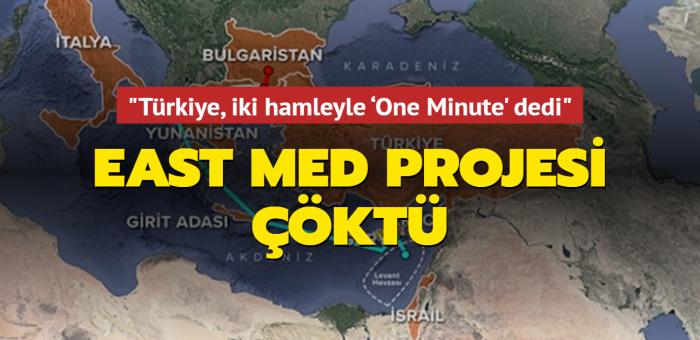 East Med projesi çöktü: Türkiye, iki hamleyle 'One Minute' dedi