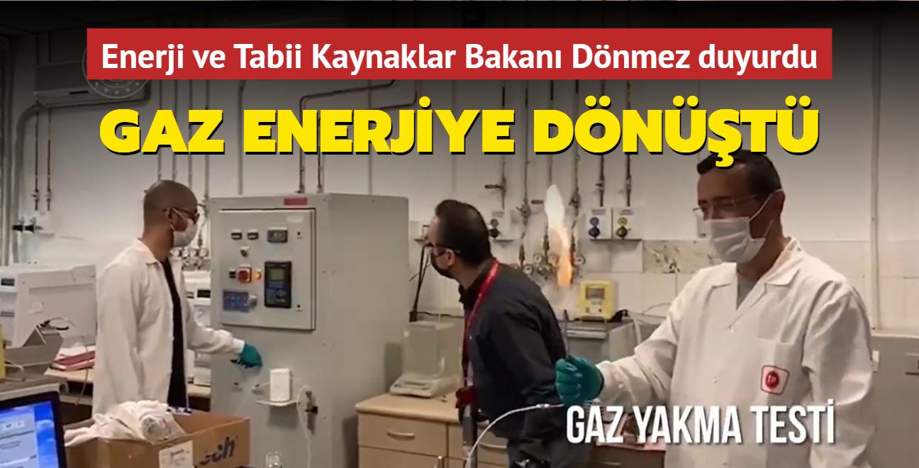 Enerji ve Tabii Kaynaklar Bakanı Dönmez duyurdu... Gaz enerjiye dönüştü