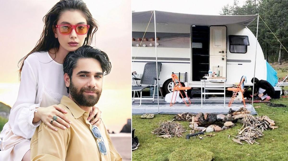 Neslihan Atagül-Kadir Doğulu çifti Ege'de kamp kuracak