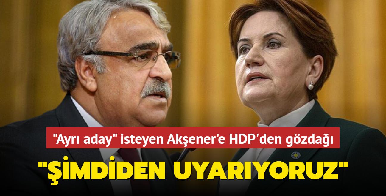 """HDP'li Sancar'dan """"ayrı aday"""" isteyen Akşener'e gözdağı: """"Şimdiden uyarıyoruz"""""""