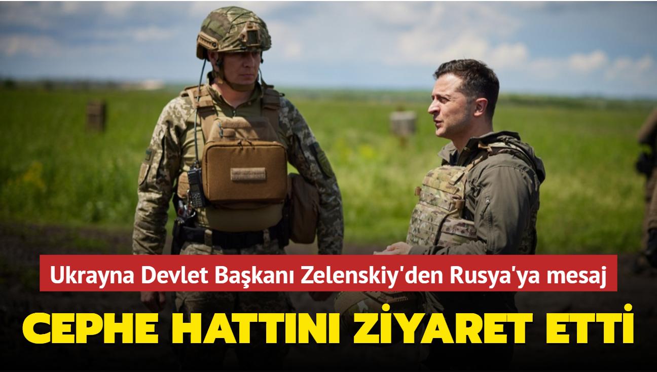 Ukrayna Devlet Başkanı Zelenskiy'den Rusya'ya mesaj... Donbas cephesini ziyaret etti