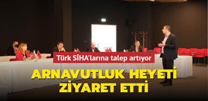Ziyaretçi trafiği sürüyor... Bu sefer Arnavutluk heyeti Türk SİHA'larını inceledi