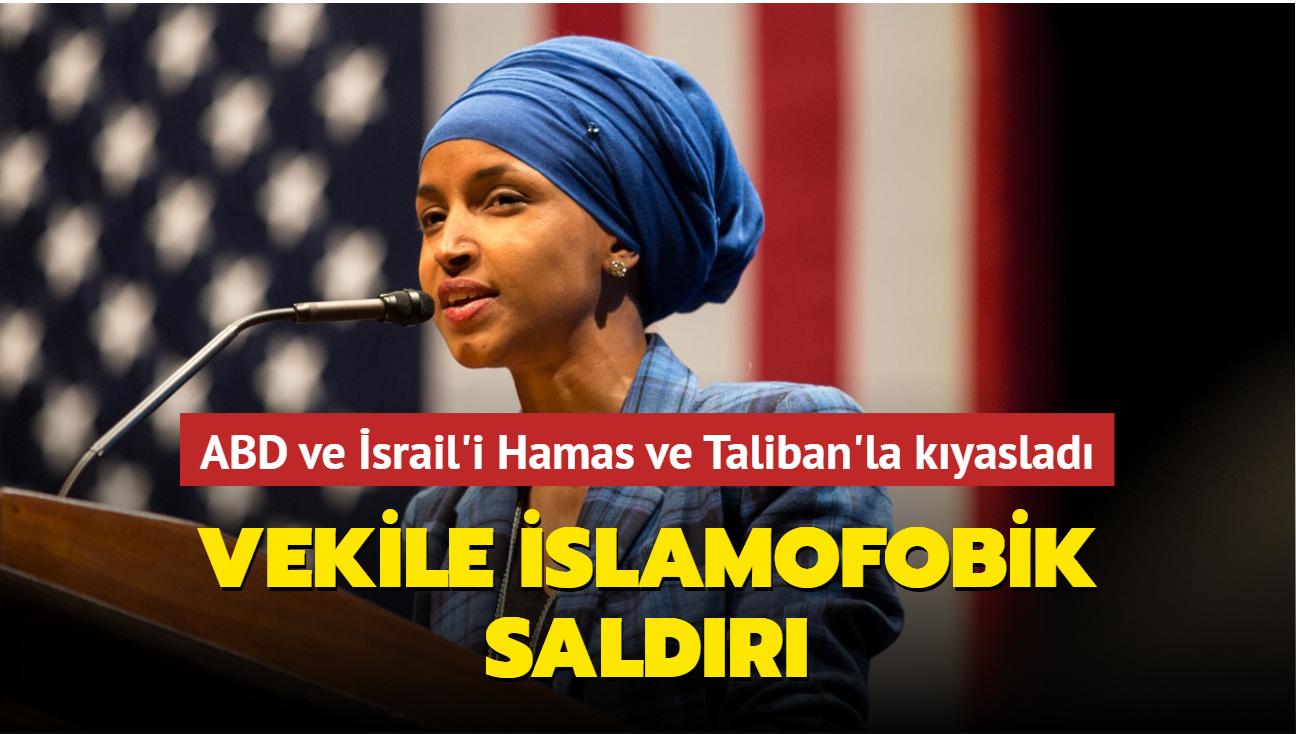 ABD ve İsrail'i Hamas ve Taliban'la kıyasladı: Vekile İslamofobik saldırı