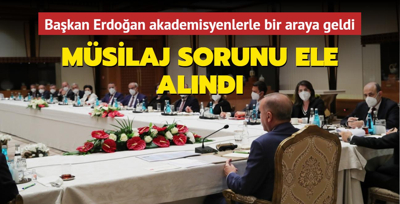 Başkan Erdoğan akademisyenlerle müsilaj sorununu görüştü