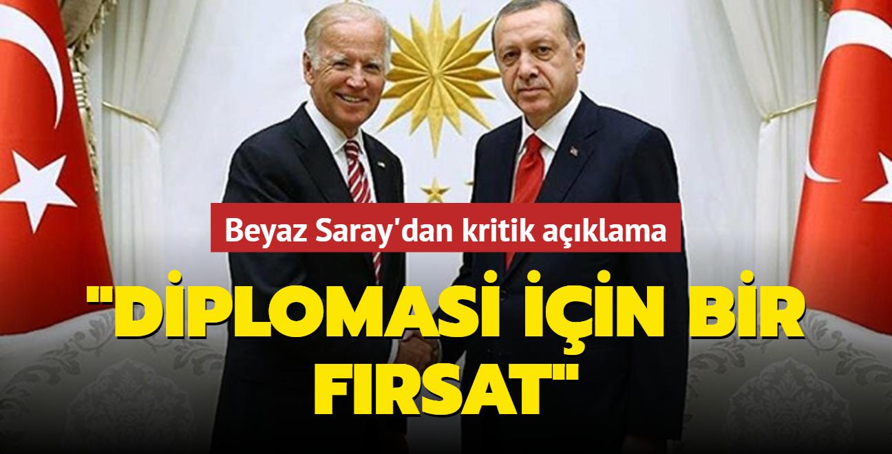 Beyaz Saray: Başkan Erdoğan-Biden görüşmesi bir fırsat