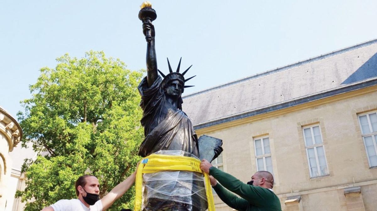 Fransız hediyesi... Amerika'ya yeni Özgürlük Heykeli