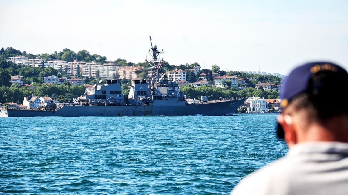 ABD savaş gemisi İstanbul Boğazı'ndan Karadeniz'e geçti
