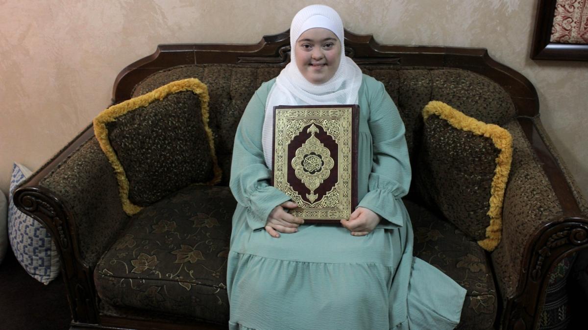 Down sendromlu Ravan hafız oldu: Kur'an benim hayatım