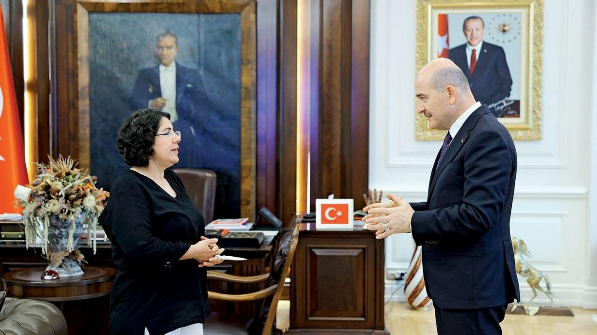 Kızı PKK tarafından kaçırılan anneden İçişleri Bakanı Süleyman Soylu'ya ziyaret