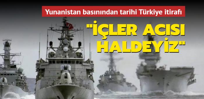Yunanistan basınından tarihi Türkiye itirafı: İçler acısı haldeyiz