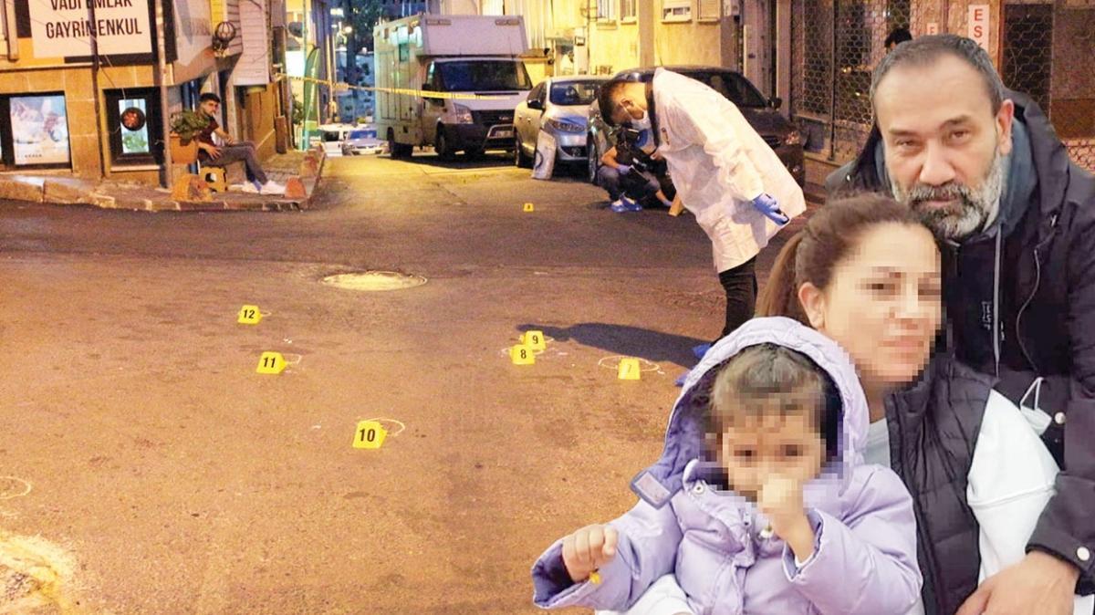 Sokak haydutları kızını gezdiren babayı vurdu
