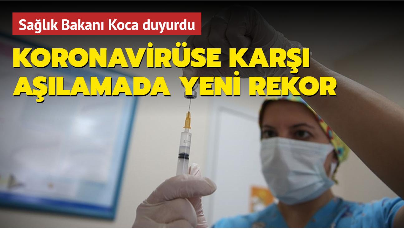 Türkiye'de koronavirüse karşı aşılamada yeni rekor