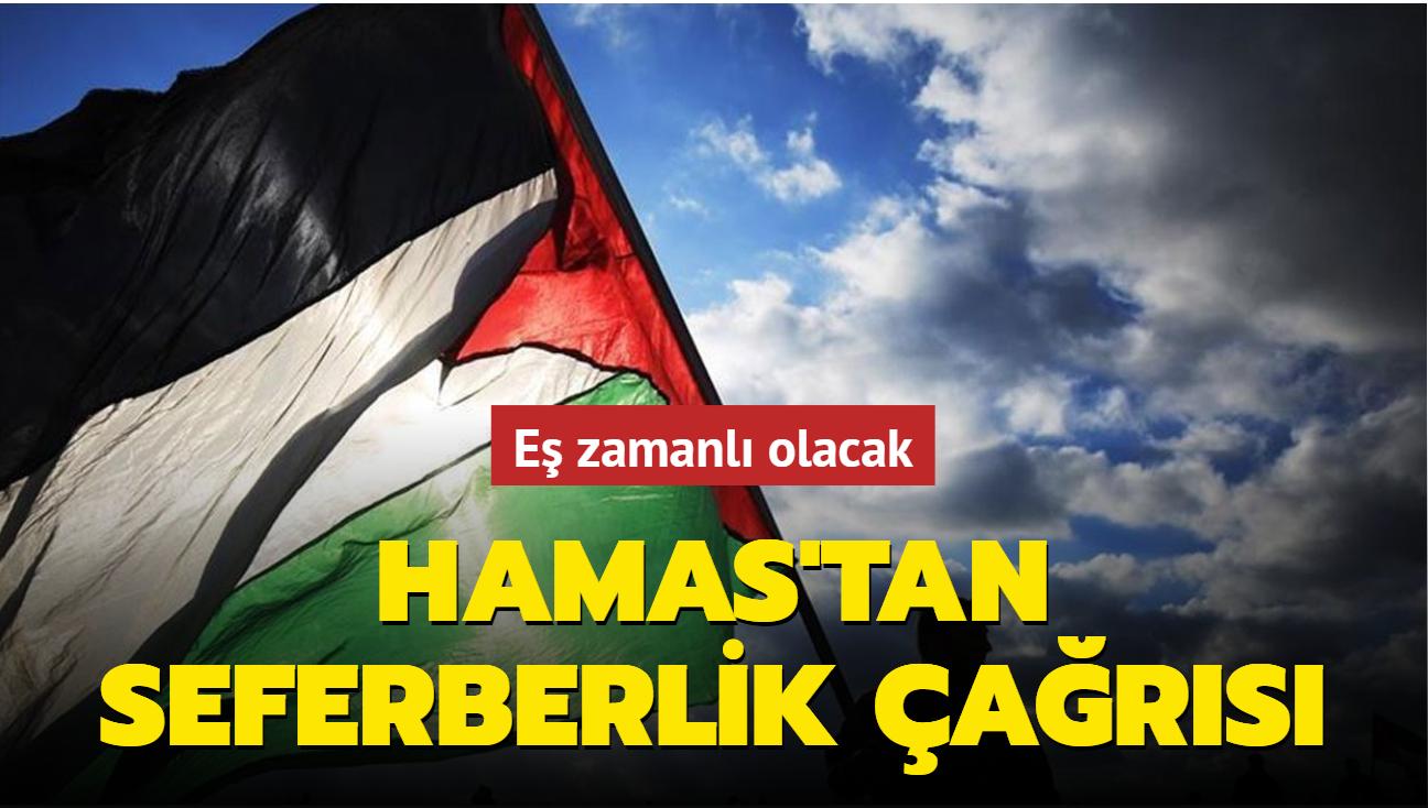 Eş zamanlı olacak... Hamas'tan Mescid-i Aksa'da seferberlik çağrısı