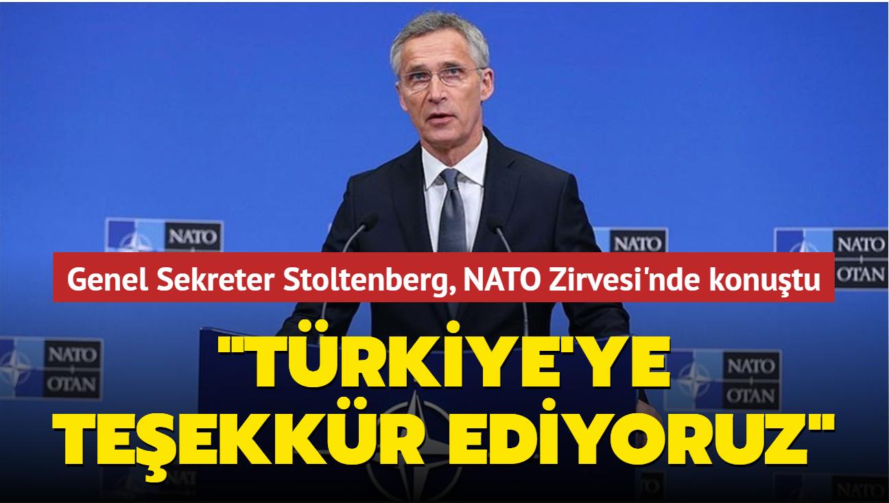 Genel Sekreter Stoltenberg, NATO Zirvesi'nde konuştu