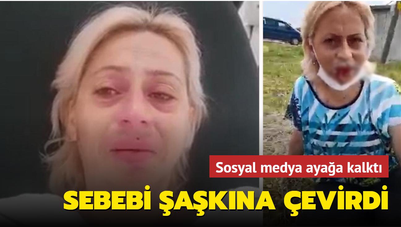 Sokak hayvanlarını beslerken saldırıya uğrayan kadın hastanelik oldu