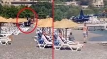 Halk plajına inen helikoptere ilişkin yazılı açıklama