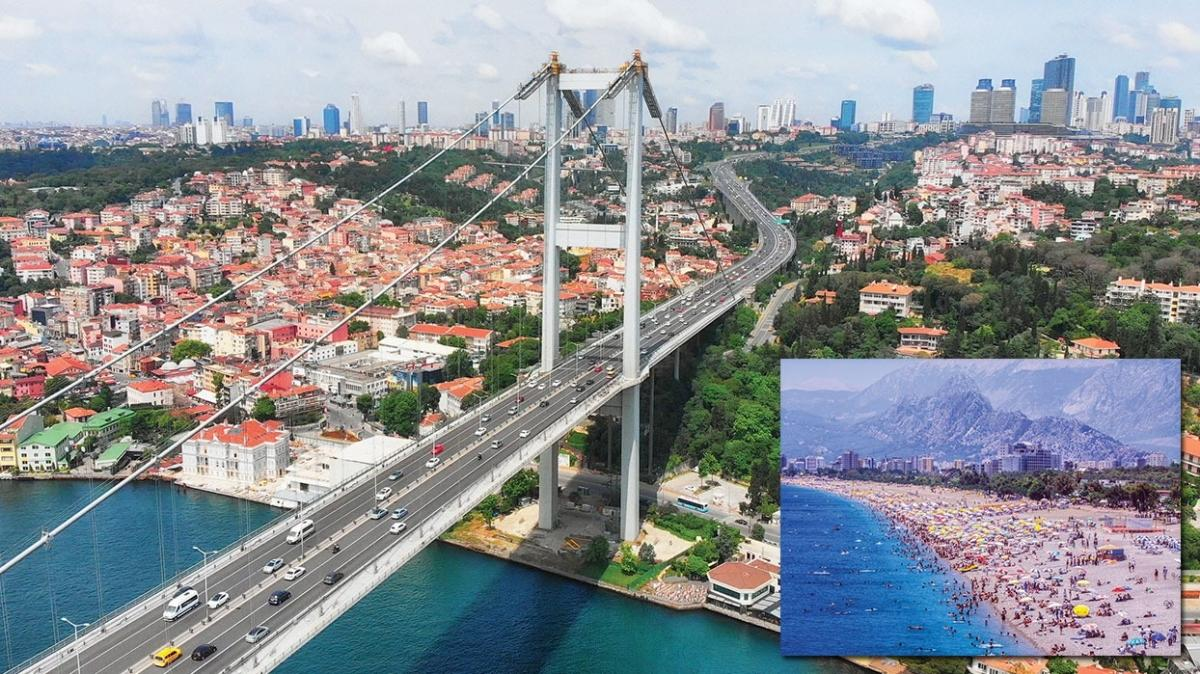 Avrupalı turistin gözü Antalya ve İstanbul'da