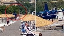 Plaja inen helikopter pilotu konuştu! Sebebi ''pes'' dedirtti