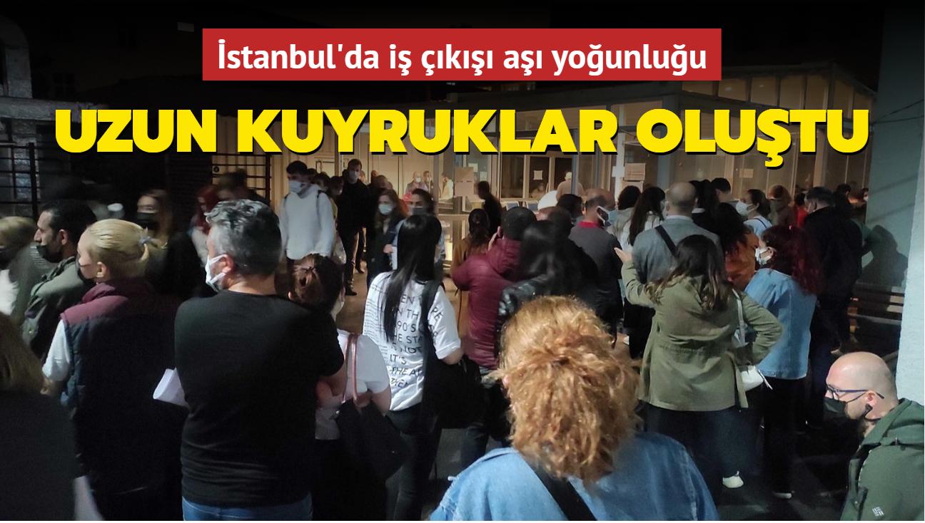 İstanbul'da iş çıkışı aşı yoğunluğu... Uzun kuyruklar oluştu