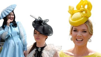 Şapka stilleri at yarışlarından daha çok konuşuldu