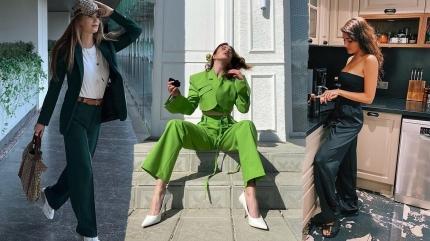 Sevilen trend bol pantolonlar! İşte ünlülerin bol pantolon kombinleri