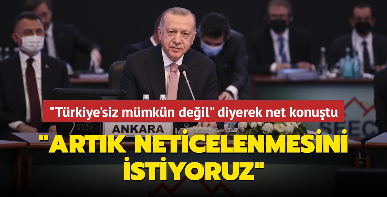 Başkan Erdoğan 'Güneydoğu Avrupa Ülkeleri Zirvesi'nde konuştu