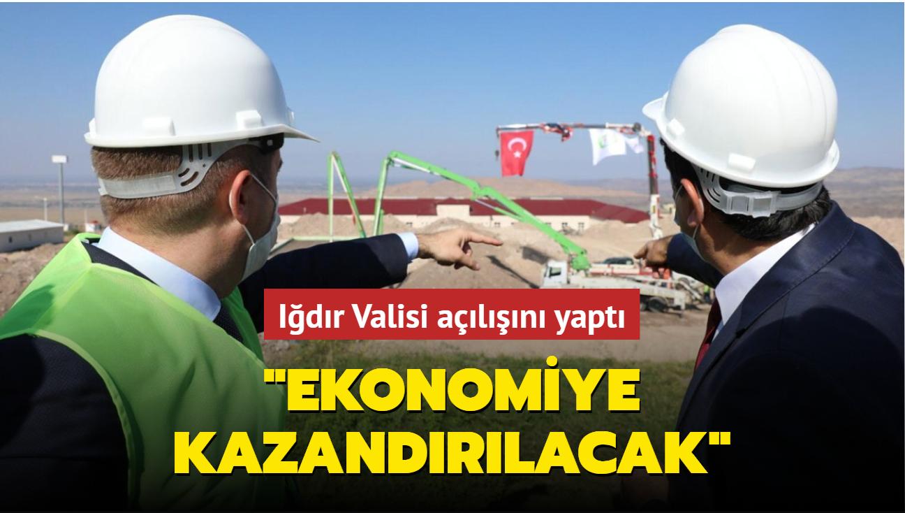 """Iğdır Valisi açılışını yaptı: """"Ekonomiye kazandırılacak"""""""