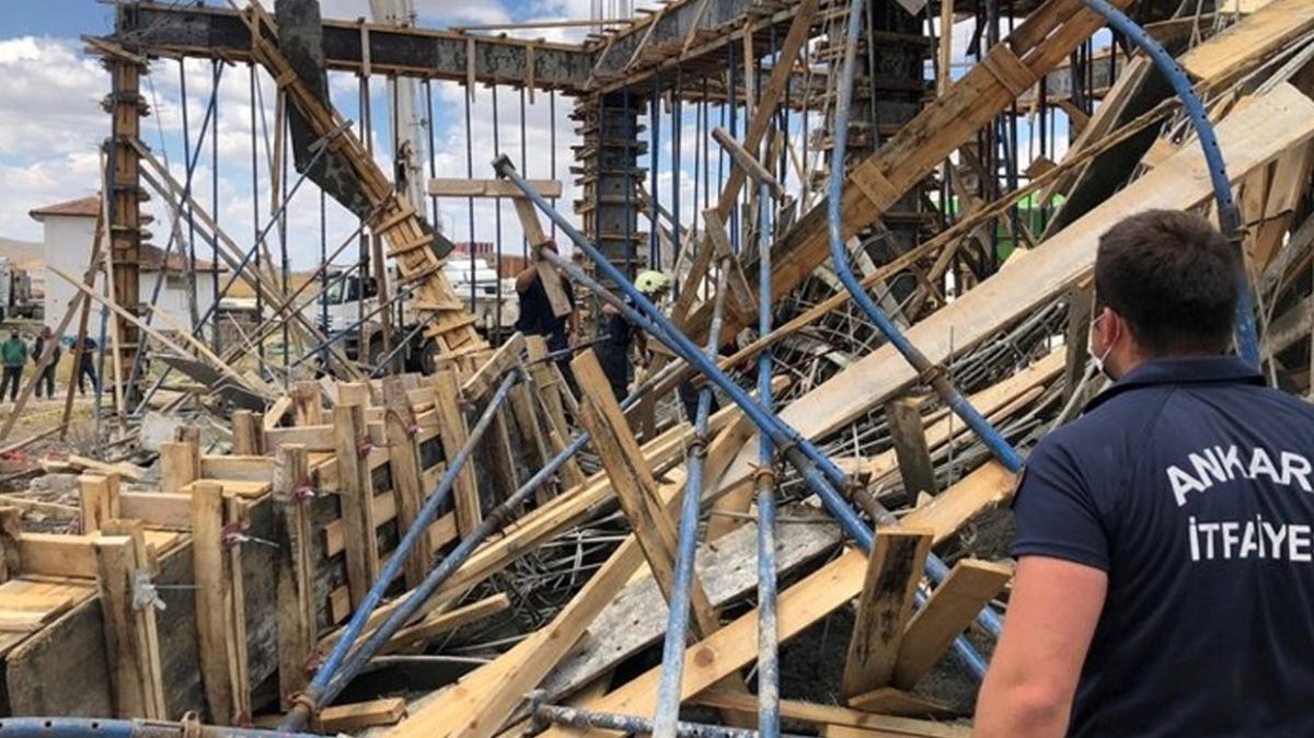 Ankara'daki inşaatta göçük: 1 işçi hayatını kaybetti