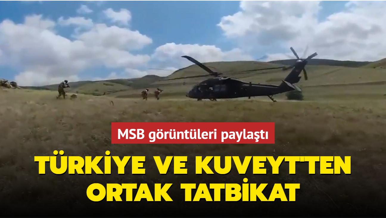 MSB görüntüleri paylaştı... Türkiye ile Kuveyt arasında tatbikat icra edildi