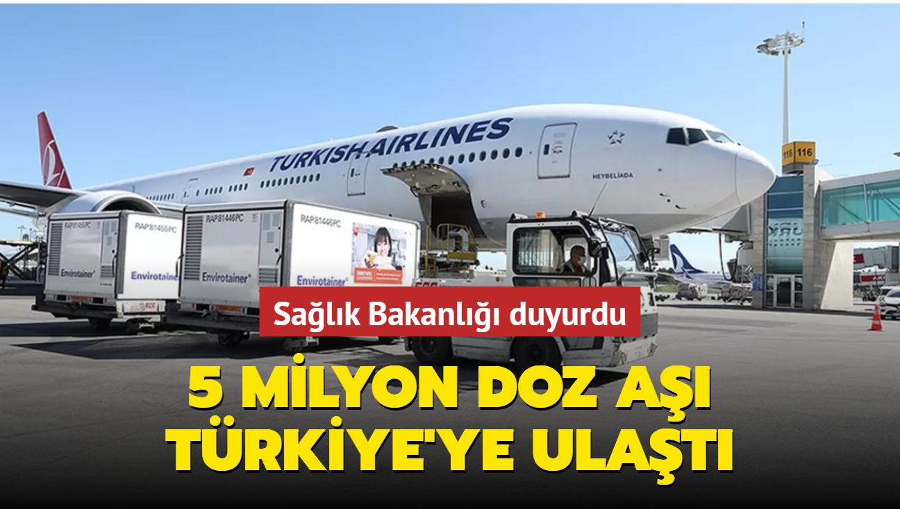 Sağlık Bakanlığı açıkladı... Aşılar Türkiye'ye ulaştı